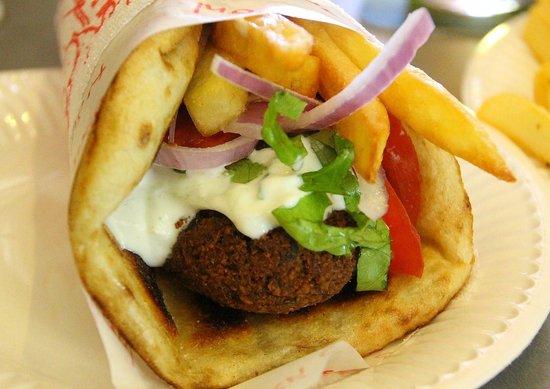 Lucky's Souvlakis : Lucky's falafel souvlaki - delicious!!