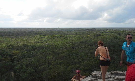 La Selva Mariposa : View of jungle from Coba pyramid