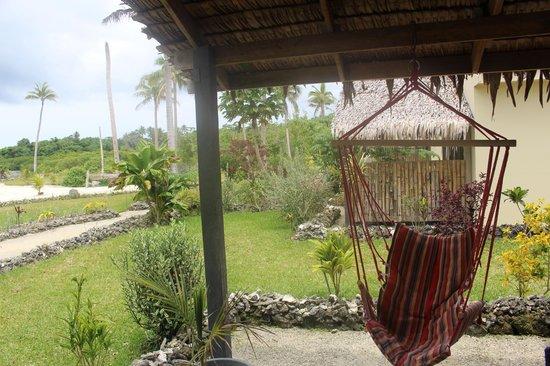 Aquana Beach Resort: view from the verandah bungalow 5