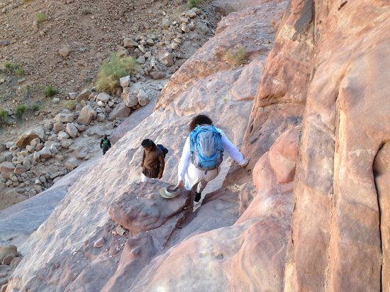 Mohammad Mutlak Camp : The trail was steep in places