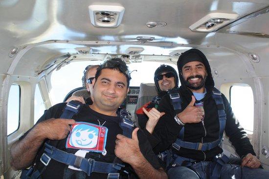 Skydive San Diego: in plane