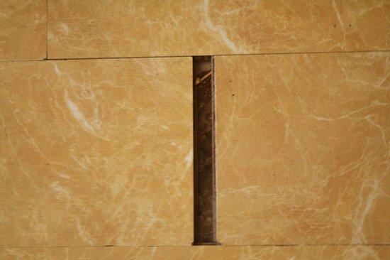Deccan Plaza: Broken floor tile
