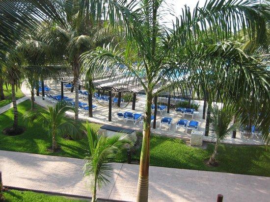 Barcelo Maya Beach: a pool view from Caribe room balcony