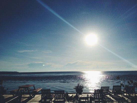 Maratua Paradise Resort: View from the restaurant