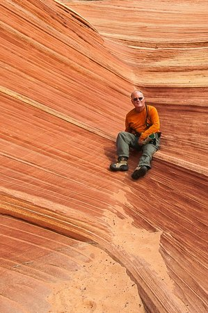 The Wave at Coyote Buttes: Close up of me in the side canyon at the Wave