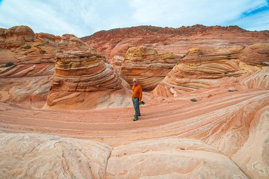 The Wave at Coyote Buttes: View from above the Wave