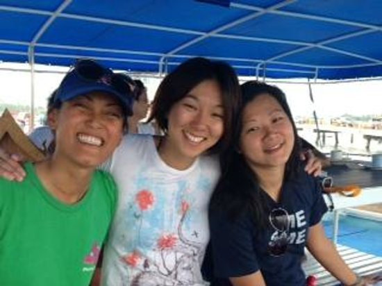 Sharkey Scuba: onboard the diving boat