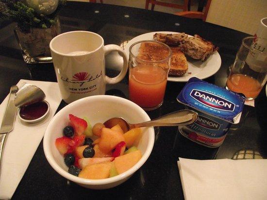 Library Hotel : petit déjeuner