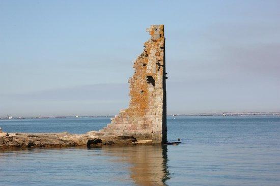 "Torre de San Sadurnino: Cambados - Ruinas de la ""Torre de San Sadurniño"" en la ""Illa da Figueira"""