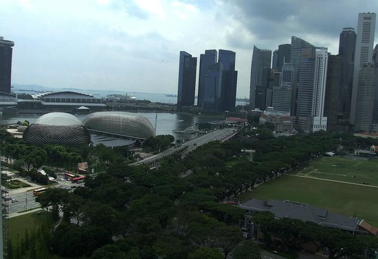 Fairmont Singapore : view from 21st floor to Singapore River