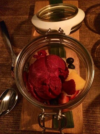 Munchie: Sorbet cassis et fruits frais