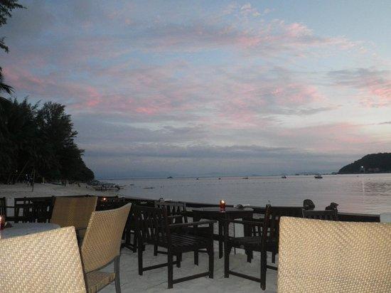 Coral View Island Resort: vue de la terrasse plage