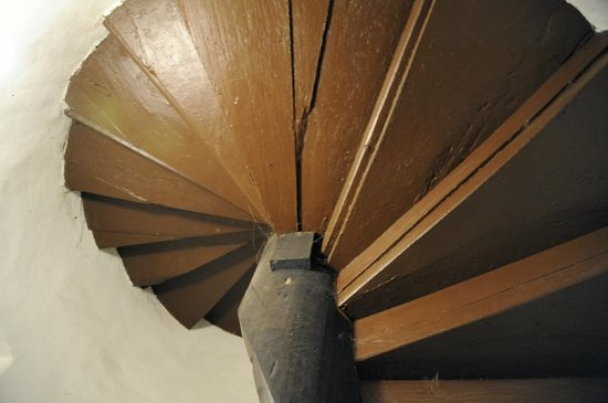 Museum of Alchemists and Magicians of Old Prague: Oldest wooden stairs in Prague inside museum