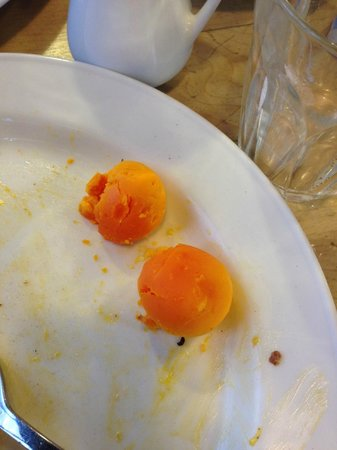 hard yolks. Not pleasant to me.