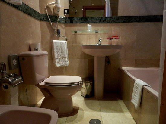 Carlos V Hotel : Baño rosa