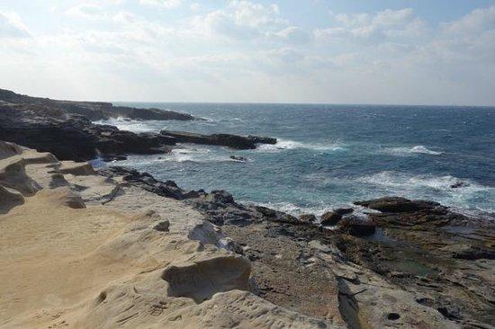 Senjojiki: 青い海と奇岩