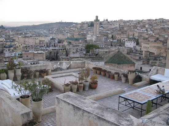 Dar Seffarine: Part of the roof terrace