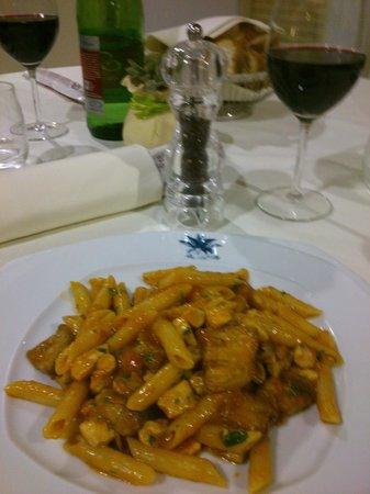 Viola Palace Hotel : Pasta con sugo alle melanzane e pesce spada