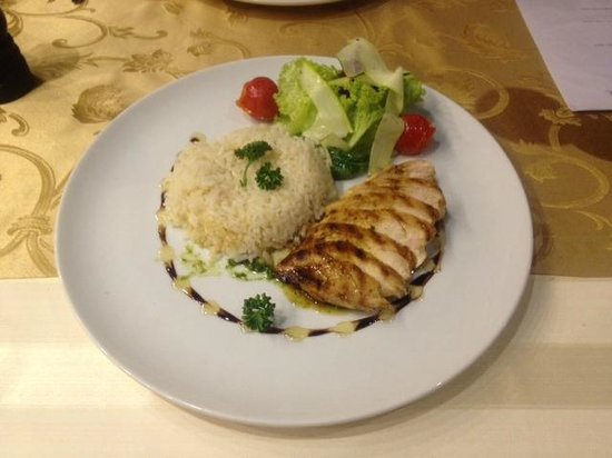 Restaurant Palacky: chicken breast!