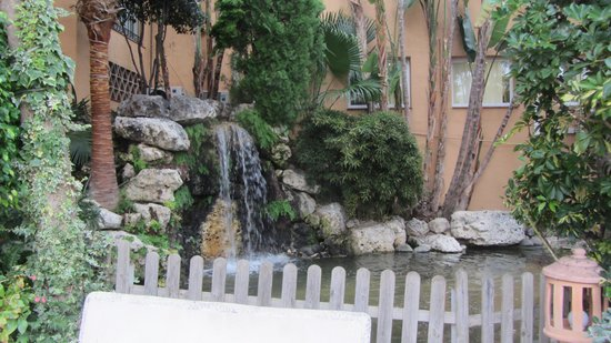 Grangefield Oasis Club: waterfall and pond feature