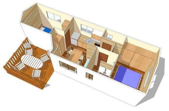 Piantina bungalow foto di la casa dei sogni gallico for Costruisci la tua casa dei sogni