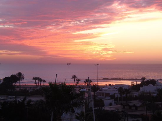Mabrouk: View from upstairs window at sunset