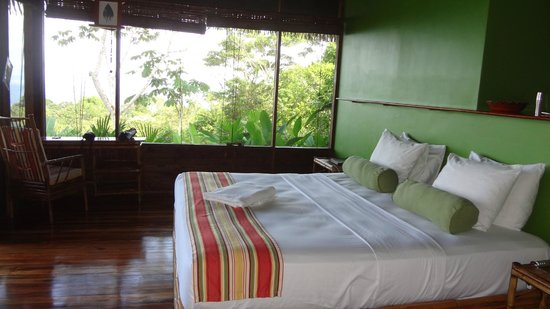 Lapa Rios Ecolodge Osa Peninsula: Bedroom overlooking rainforrest.