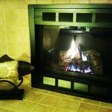 Mariposa Inn and Suites : Fireplace