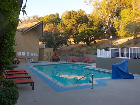 Best Western Plus Novato Oaks Inn: Pool Area facing the hillside