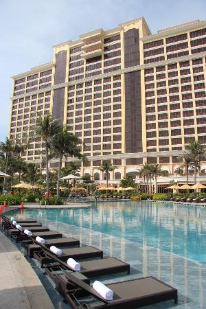The Grand Ho Tram Strip: Hotel view from pool area