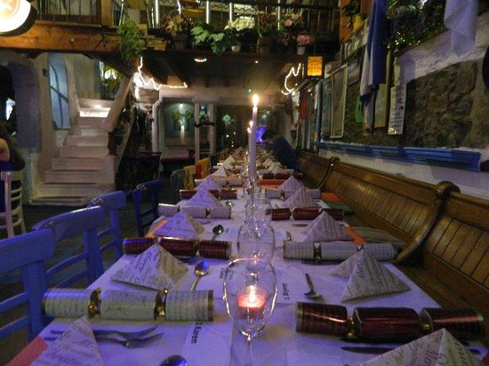 Greek Taverna Politis: our christmas party table