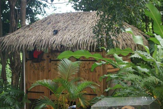 Habitation Getz: douche dans le jardin
