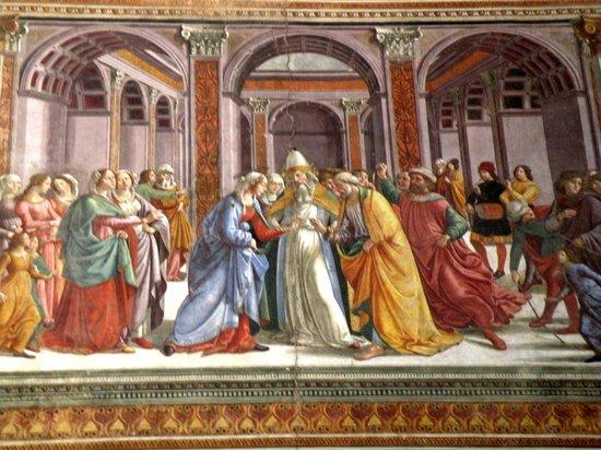 Church of Santa Maria Novella: El matrimonio de Maria. Ghirlandaio