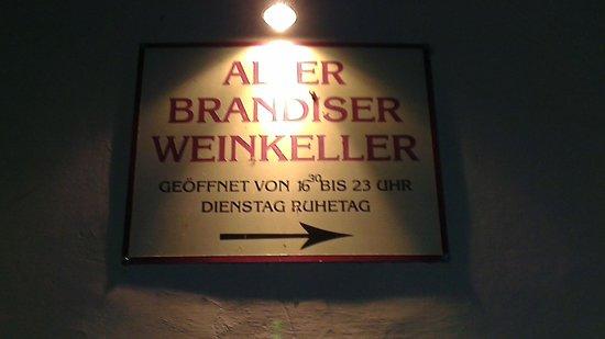 Brandiskeller: Direzione Brandis! (non confondete con il Golf Club)