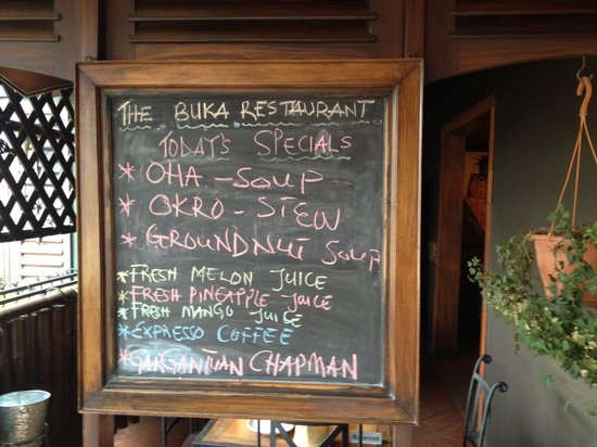 The day's special at the Buka restaurant!