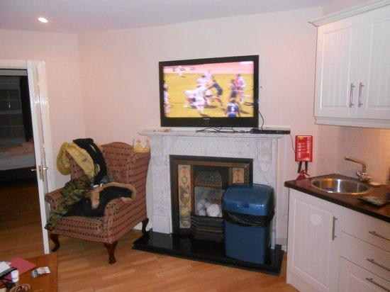The Kingfisher Capel Street Apartments: Tv e caminetto