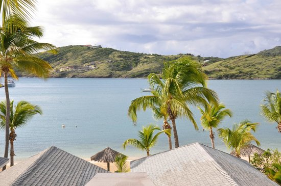 St. James's Club & Villas: Our view from villa of Mamora Bay