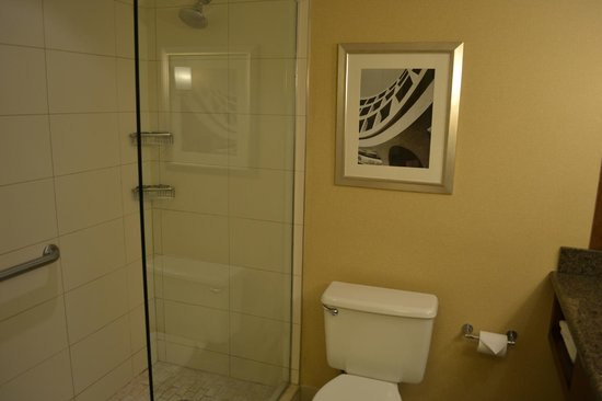 Stamford Marriott Hotel & Spa: Bath room with shower