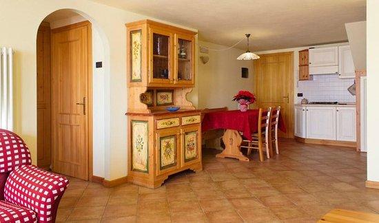 Agriturismo Camplan: Sala da pranzo appartamento 4 posti