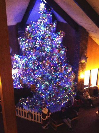 Fairmont Hot Springs Resort: Christmas tree in lobby