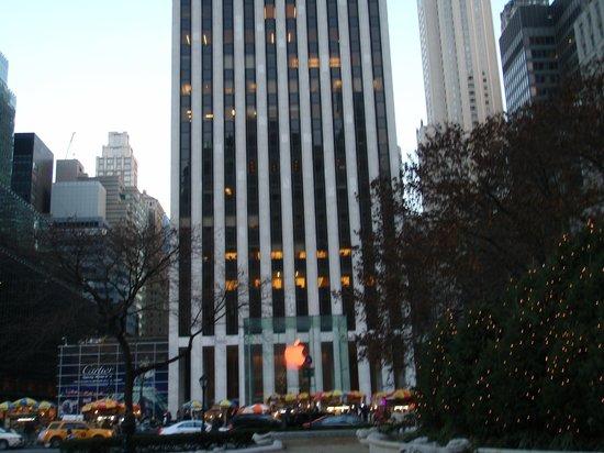 Fifth Avenue: Apple Store colorato a natale