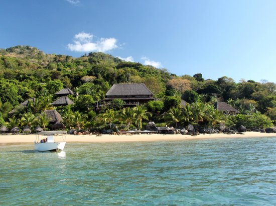 Tsara Komba Luxury Beach Forest Lodge: view from the sea