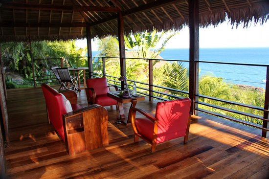 Tsara Komba Luxury Beach Forest Lodge: balcony