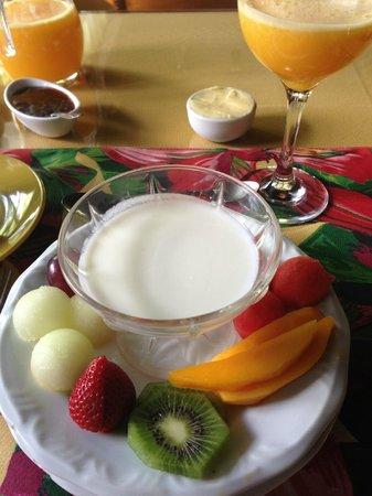 Pousada Terra da Luz: Iogurte natural, feito na pousada