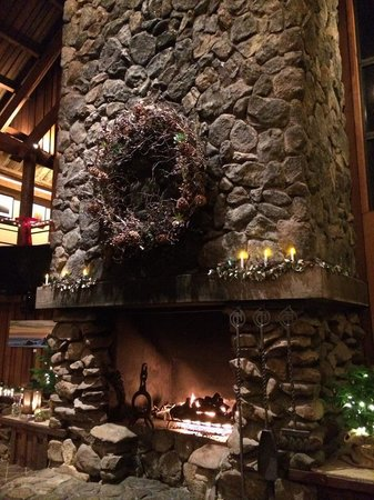 Timber Cove Inn: Fireplace in the lounge