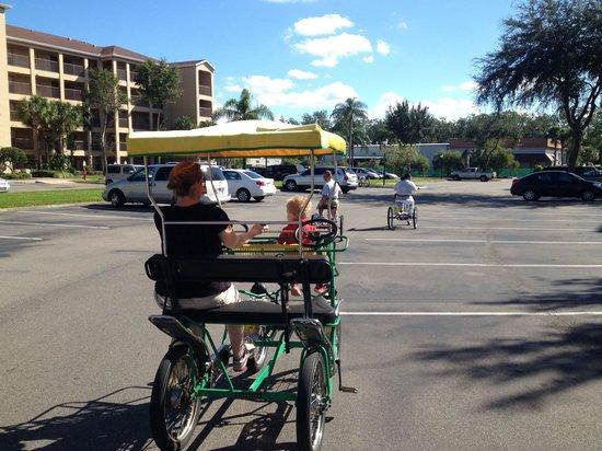Liki Tiki Village: On the bikes!