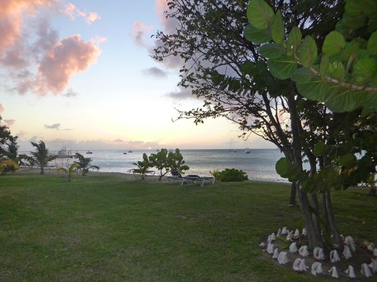Oualie Beach Resort: View from the suite's screened in porch