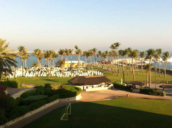 JA Jebel Ali Beach Hotel: view from our balcony (sea view room)