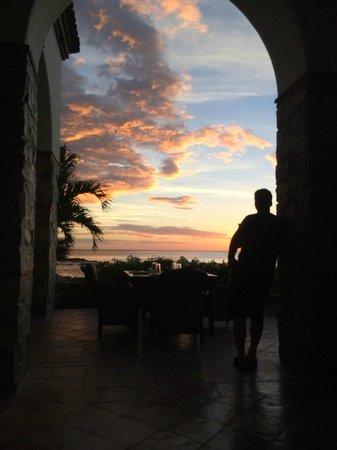 Rancho Santana : Sunset during our dinner at Finca y El Mar