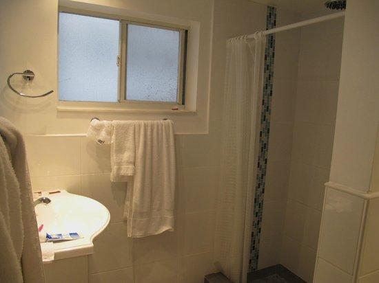 snooze: Bathroom window opens. Nice!